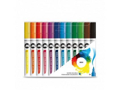 Molotow Aqua color brush 12 set A  Výhodné balení