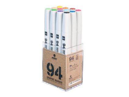 MTN Graphic marker 12 basic set  Výhodné balení