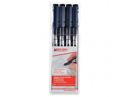 ED50737 edding 1880 Drawliner Pen Set of 4 Assorted P1