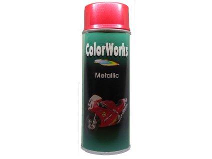 effect spray red metallic