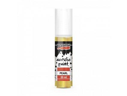 Pentart akrylové perleťové barvy 20 ml  6 třpytivých barev