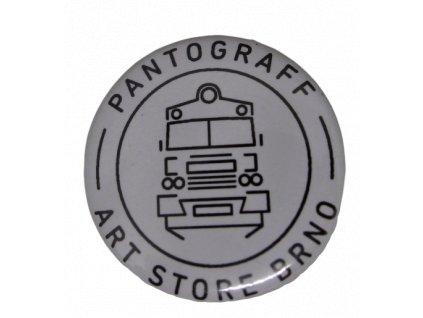 Placka Pantograff art store bílá  Logo by OLIVER