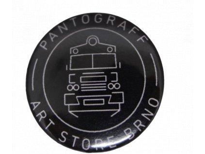 Placka Pantograff art store černá  Logo by OLIVER
