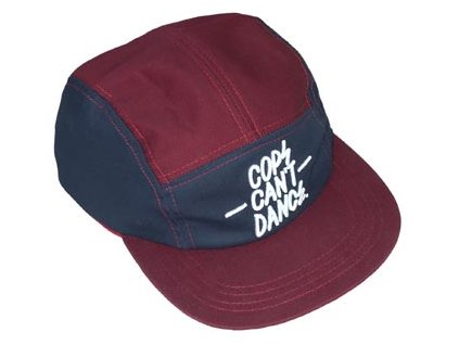 mr serious cops cant dance snapback weinrot blau 120 medium 0