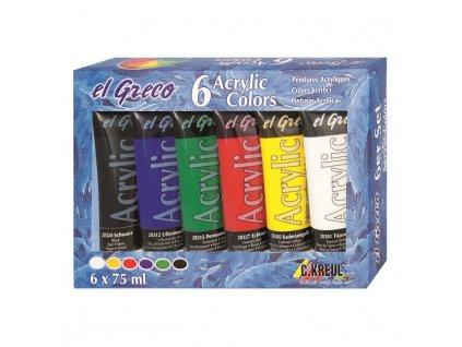 akrylove barvy El Greco sada