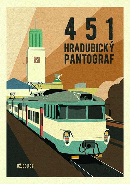 Ostatní Plakát Pantograf 451 formát: A4 Hradec Králové