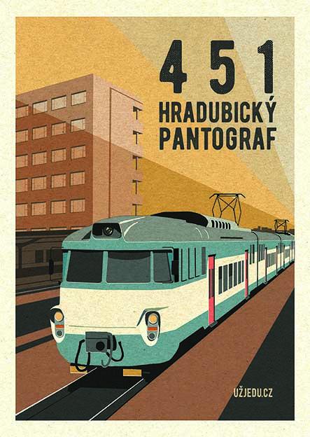 Ostatní Plakát Pantograf 451 formát: A4 Pardubice