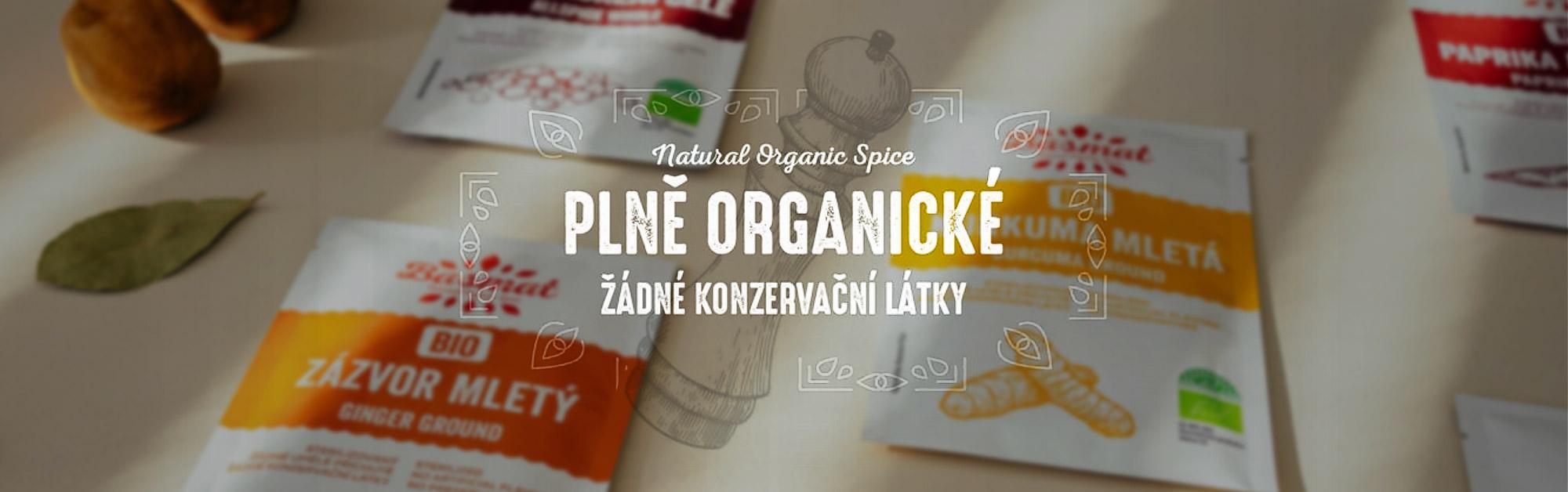 Plně organické koření