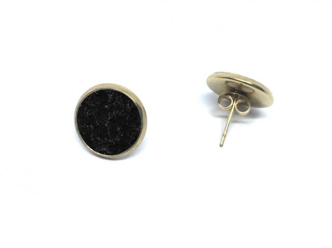 nausnice simple gold black