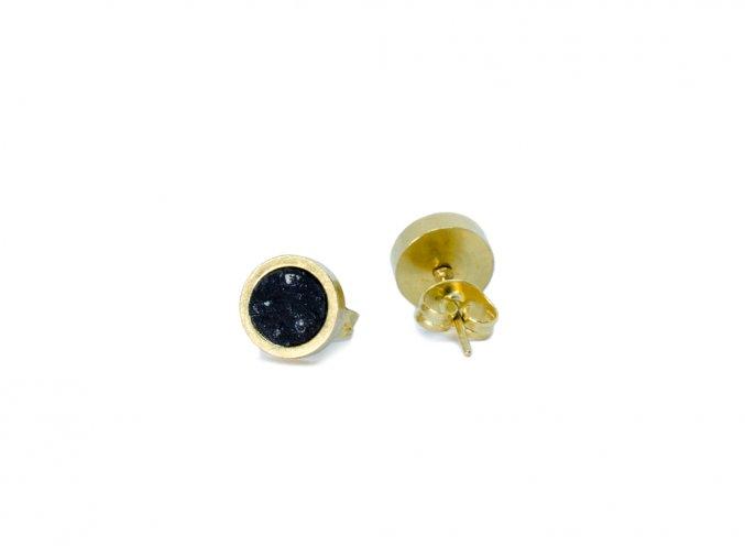 Náušnice: Bästa Gold Small Simple Ring black
