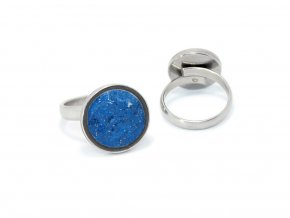 prstynek round ring modrá