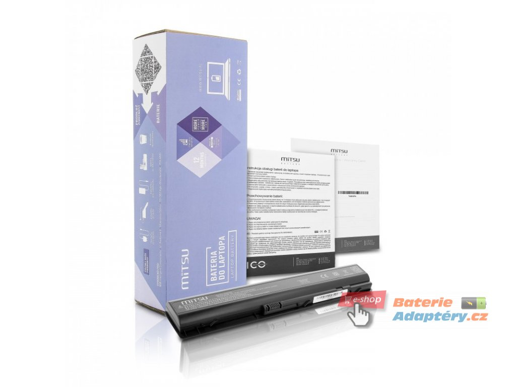 Baterie mitsu HP dv9000, dv9200, dv9500