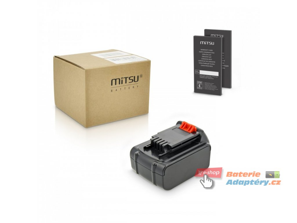 Baterie mitsu Black&Decker ASD, ASL, EPL