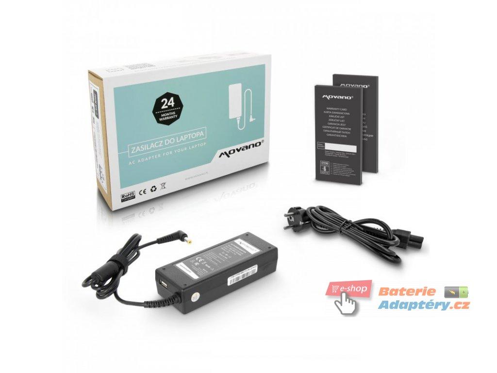 Nabíječka movano 19v 4.74a (5.5x1.7), z wyjsciem USB - acer. emachines