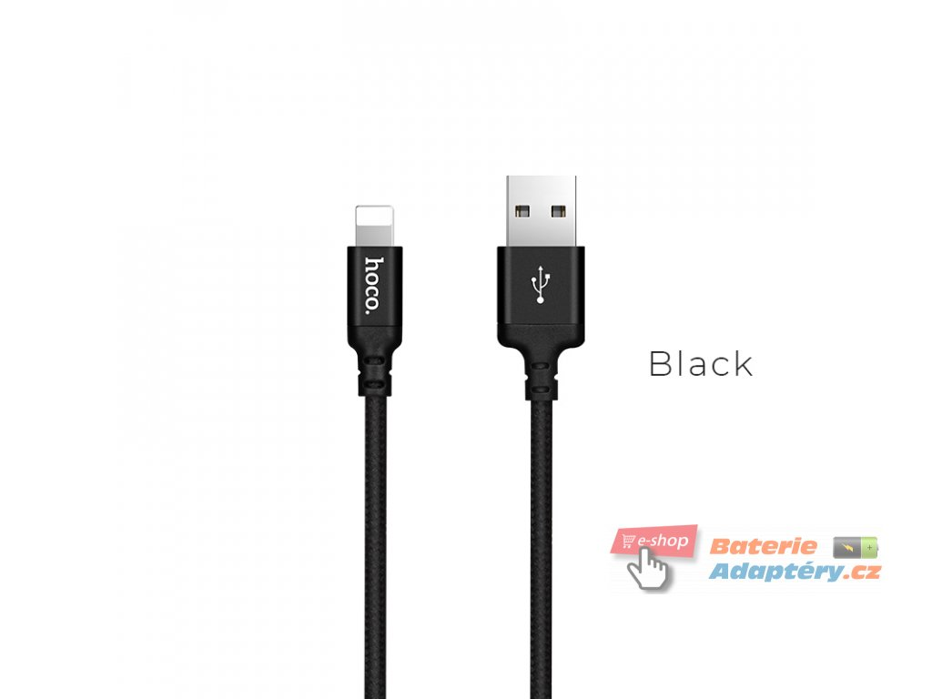 x14 times speed lightning charging cable black