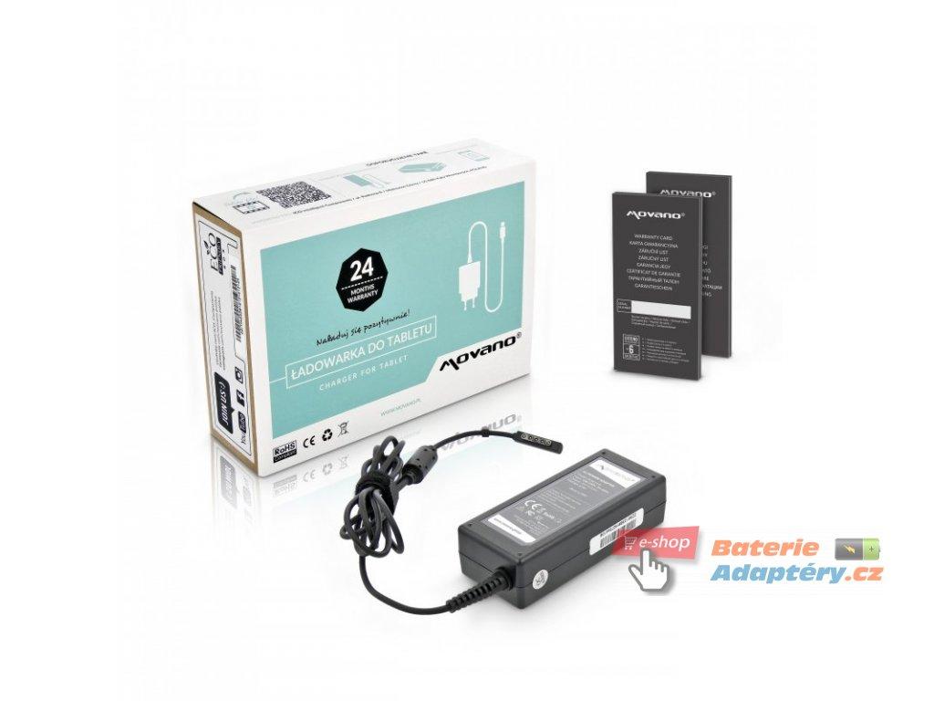 Nabíječka movano tablet microsoft surface - 12v 3.6a (multipin, 5 pinów)