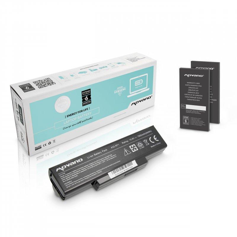 Baterie movano premium Asus K72, K73, N73, X77 (7800mAh)