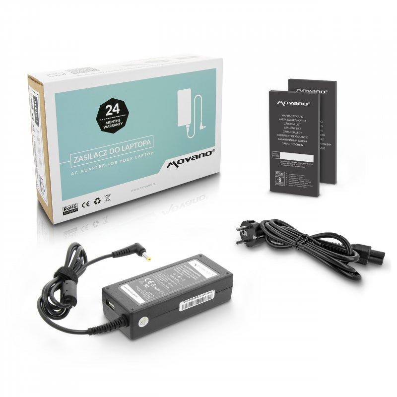 Nabíječka movano 19v 3.42a (5.5x1.7), z wyjsciem USB - acer, packard bell