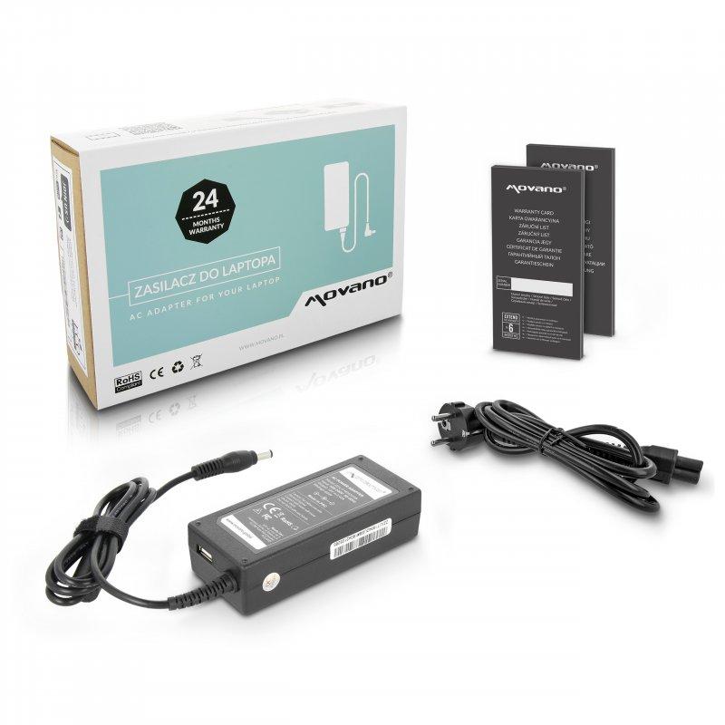 Nabíječka movano 19v 3.42a (5.5x2.5), z wyjsciem USB - asus, toshiba, lenovo, msi, itd