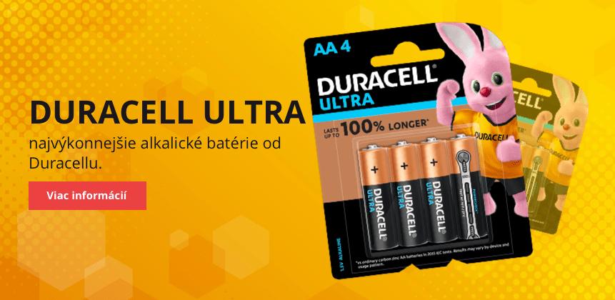 Duracell Ultra - najsilnejšie balkalické batérie od Duracellu