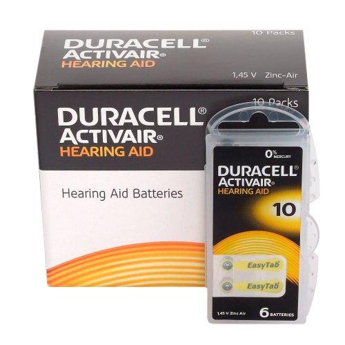 Batérie Duracell Activair 10 do načúvacích prístrojov 60 ks VÝHODNÉ BALENIE