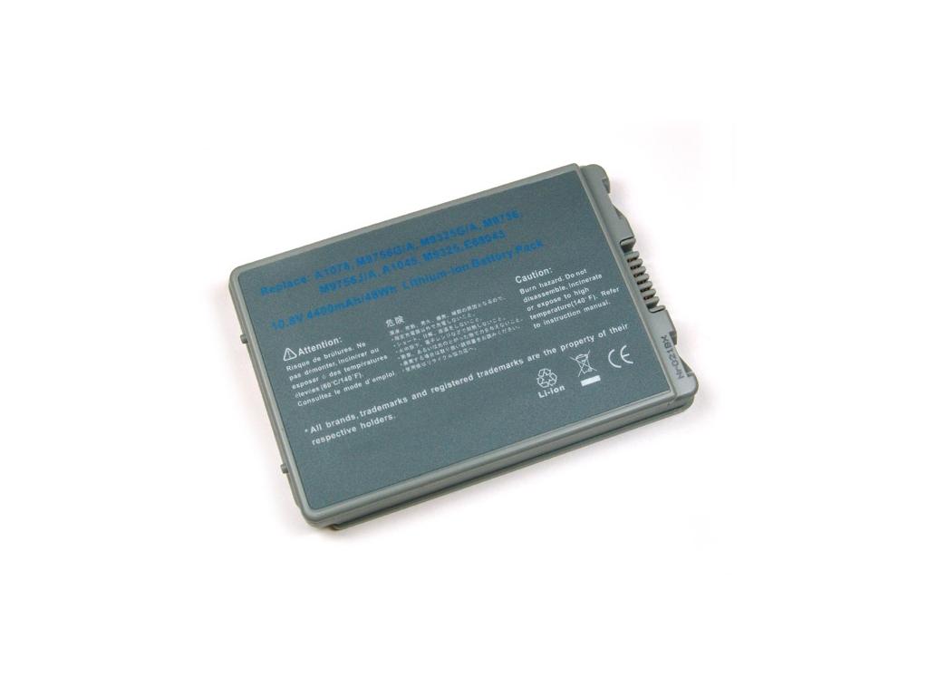 Batéria kompatibilná s Apple PowerBook G4 15'' A1106 / A1078 / A1055 Li-Ion 4400 mAh