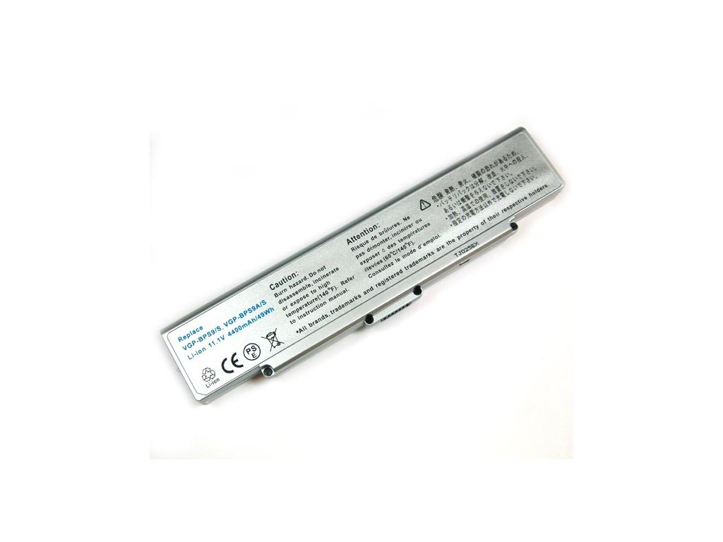 Batéria kompatibilná s Sony VGP-BPS9A/S/VGP-BPS9/S Li-Ion 4400 mAh strieborná
