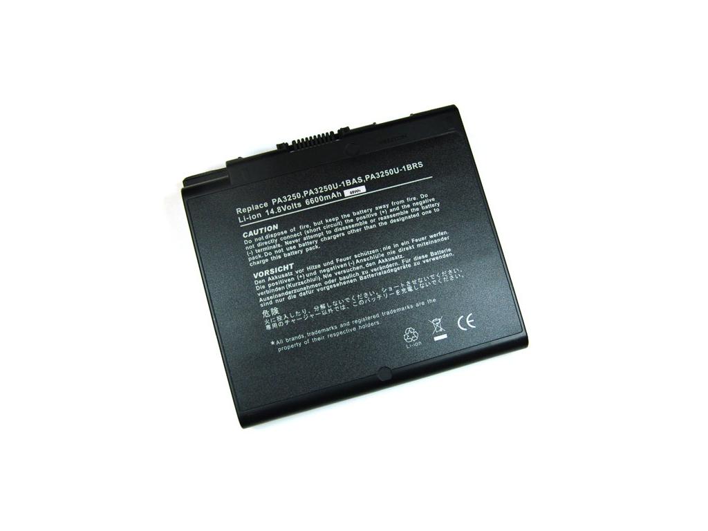 Batéria kompatibilná s Toshiba PA3250 Satellite 2430 séria Li-Ion 6600 mAh
