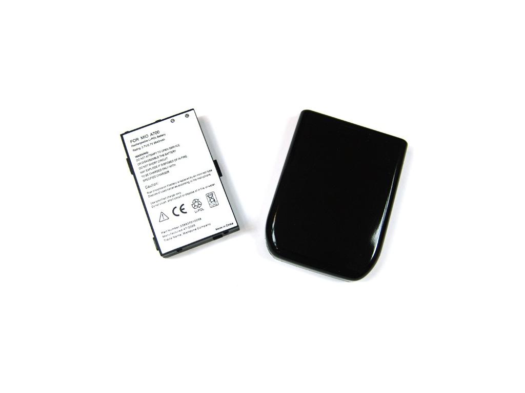 Batéria pre Mitac Mio A700 Li-Polymer 2640 mAh tučná + kryt