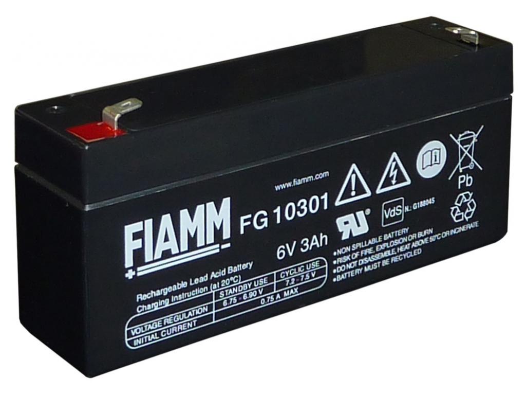 Akumulátor olovený FIAMM FG10301 6V 3Ah