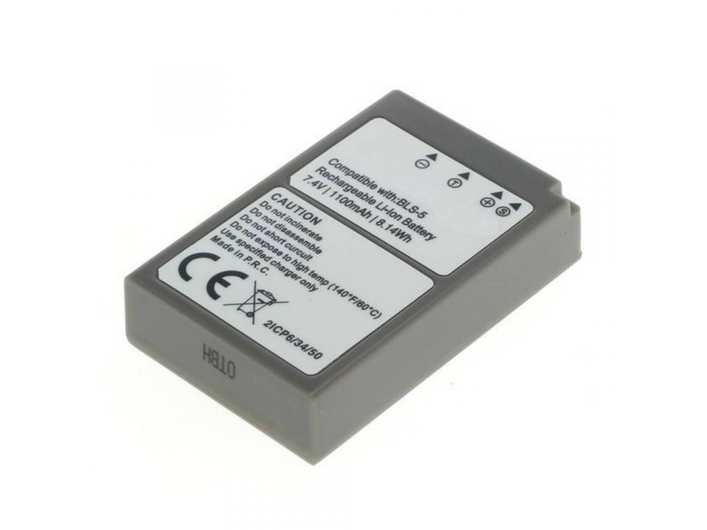 Batéria pre Olympus PS BLS 5, BLS 50 Li ion 1100 mAh