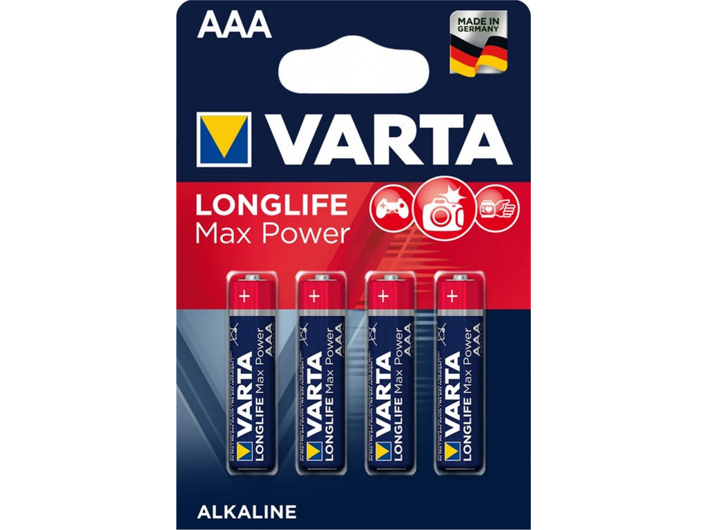 Baterie Longlife Max Power AAA 4 ks