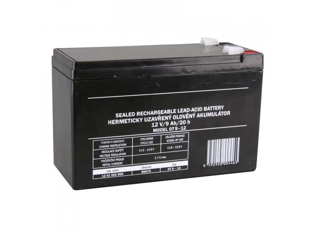 Akumulátor olovený SLA 12V 9Ah FA6,3, AGM