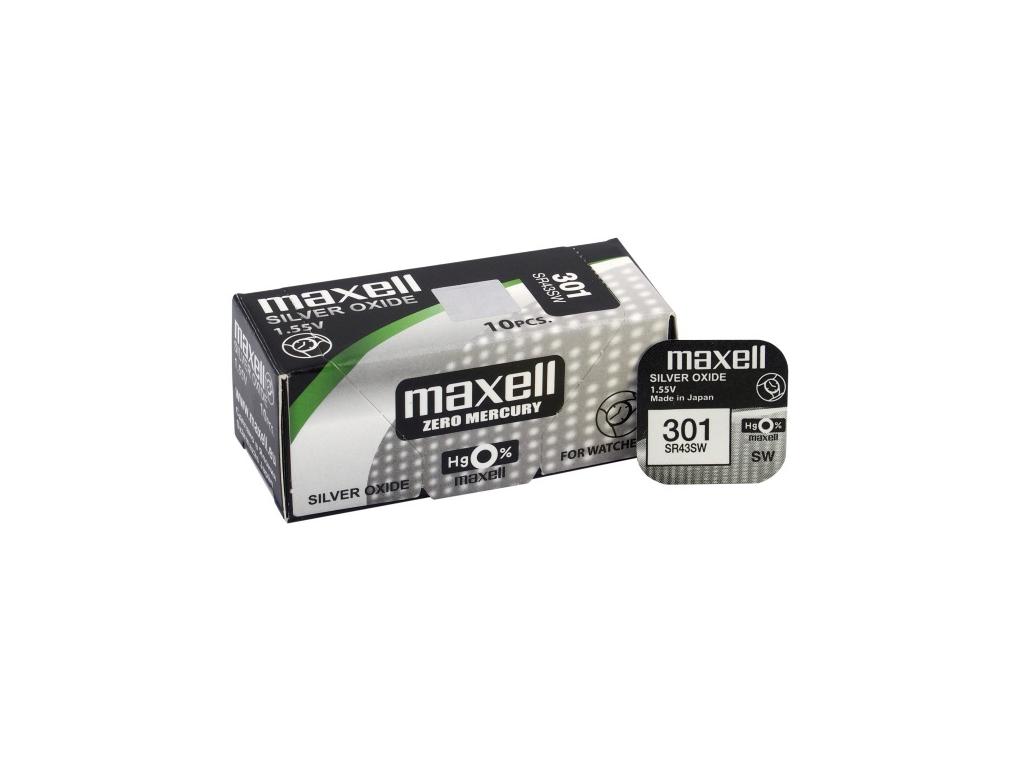 Batéria gombíková mini Maxell 301, 386, SR 43, 186