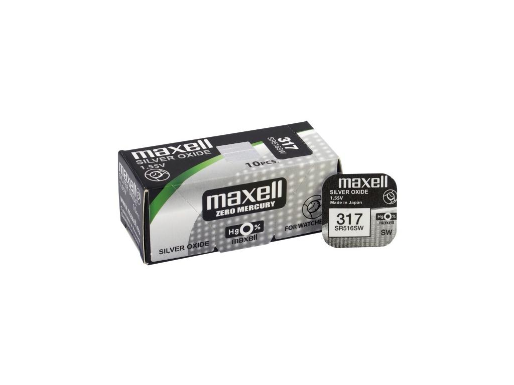 Batéria gombíková mini Maxell 317, SR 516 SW