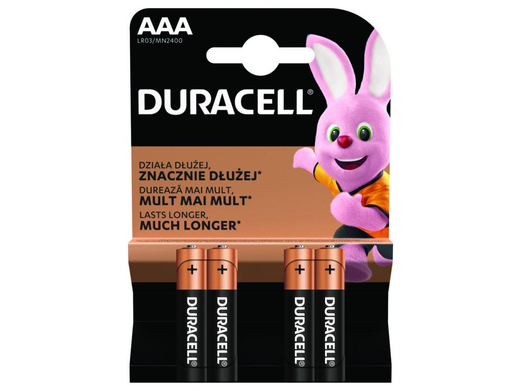 Bateria Duracell Duralock Basic AAA 4 ks