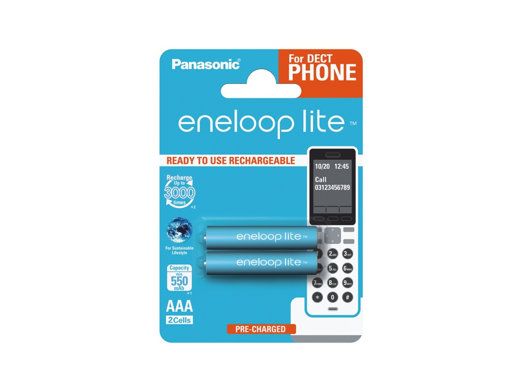 Batérie Panasonic eneloop LITE AAA 1.2V 550 mAh 2 ks