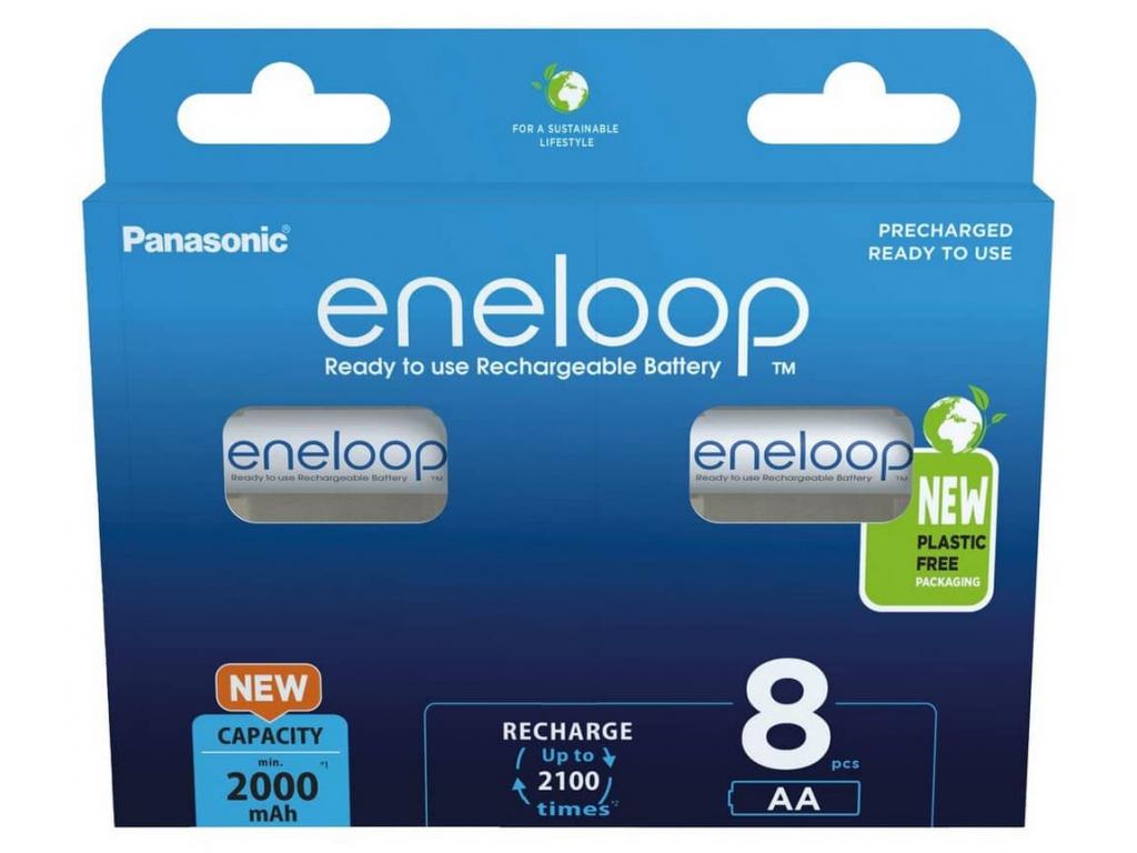 Akumulátory Panasonic eneloop AA 1900 mAh tužkové BK 3MCCE8BE 8 ks blister výhodné balenie