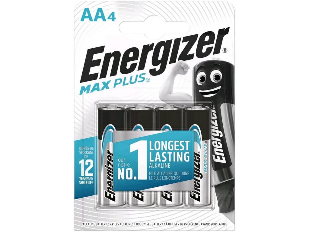 Batérie Energizer Max Plus AA LR6 4 ks blister