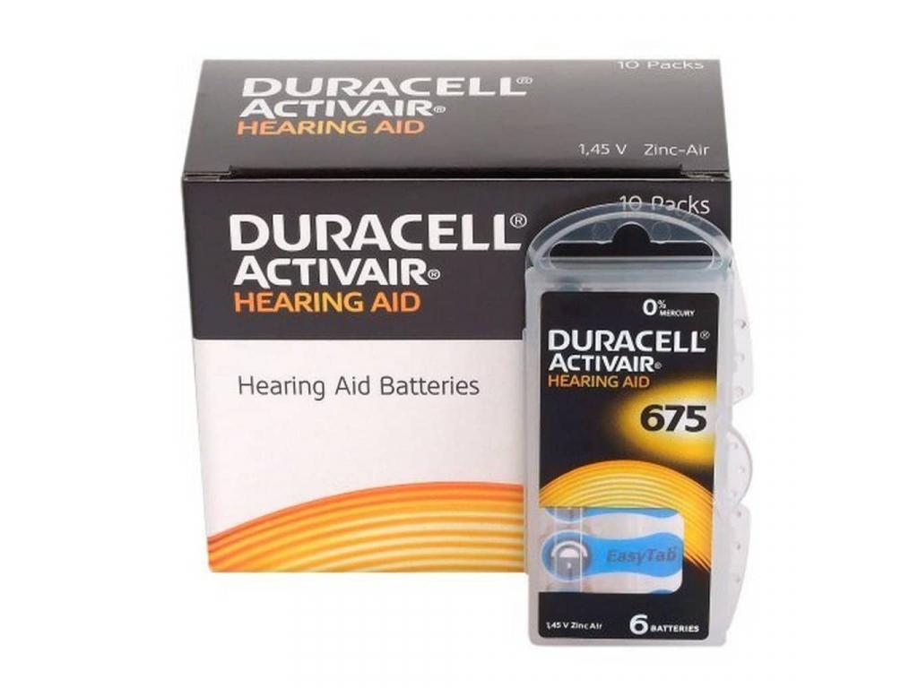 Batérie Duracell Activair 675 do načúvacích prístrojov 60 ks VÝHODNÉ BALENIE
