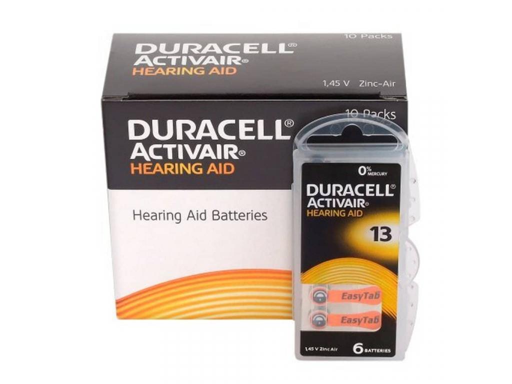 Duracell Activair 13 batérie do načúvacích prístrojov 60 ks VÝHODNÉ BALENIE