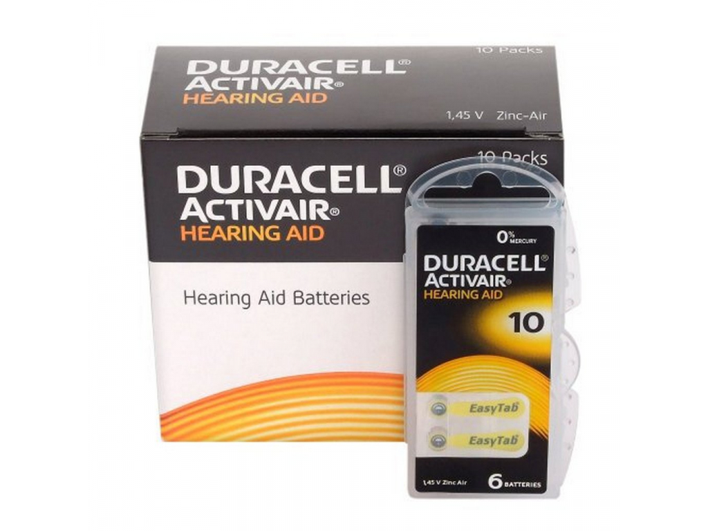 Baterie Duracell Activair 10 60 ks