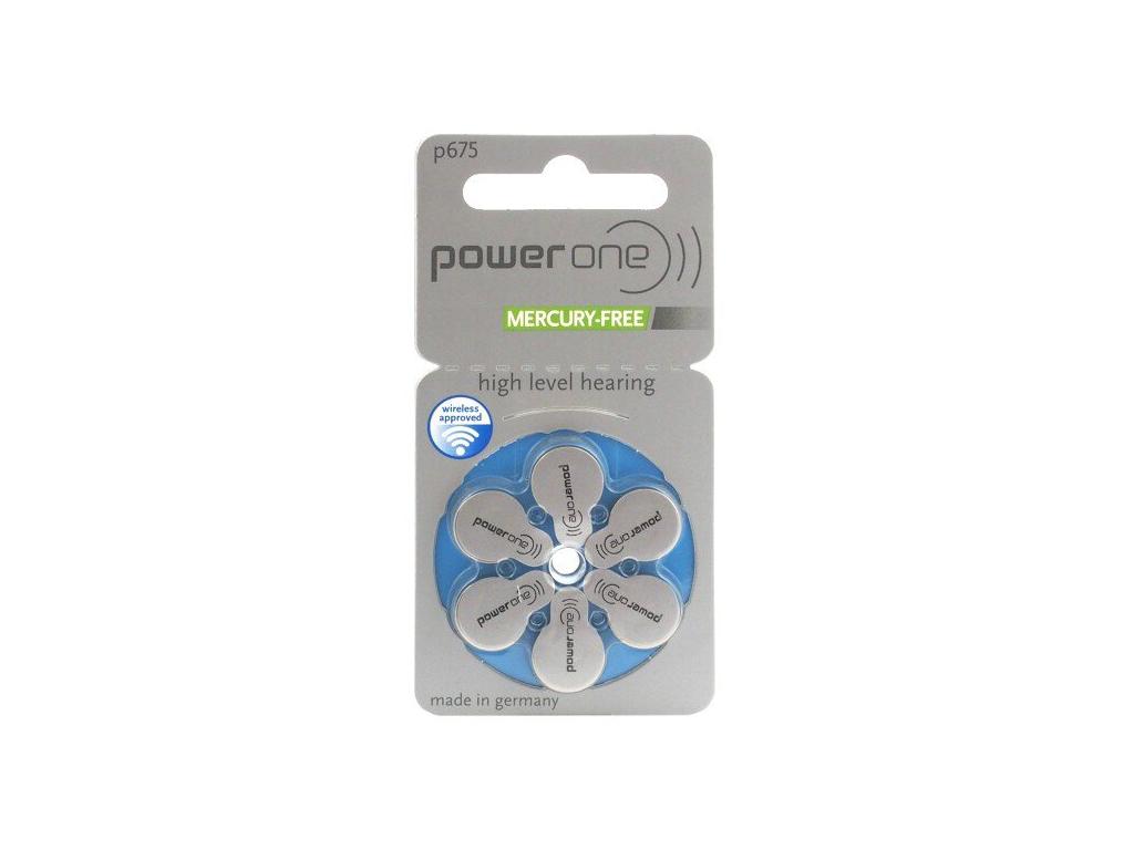 Batérie do načúvacích prístrojov 6 ks Varta Power One 675 / PR675 / PR44
