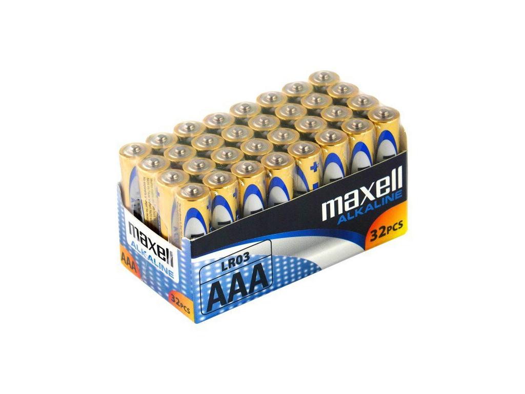 Batérie alkalické Maxell Alkaline AAA / LR03 - 32 ks balenie