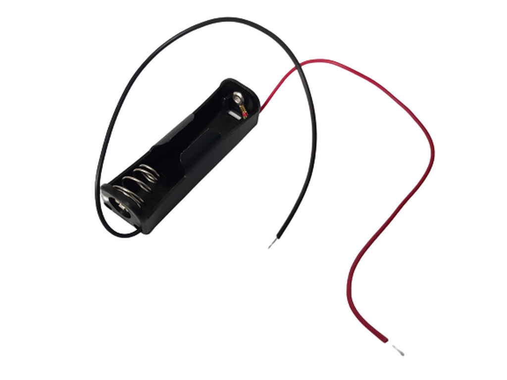 Drziak baterii 1 x AA s kablikmi
