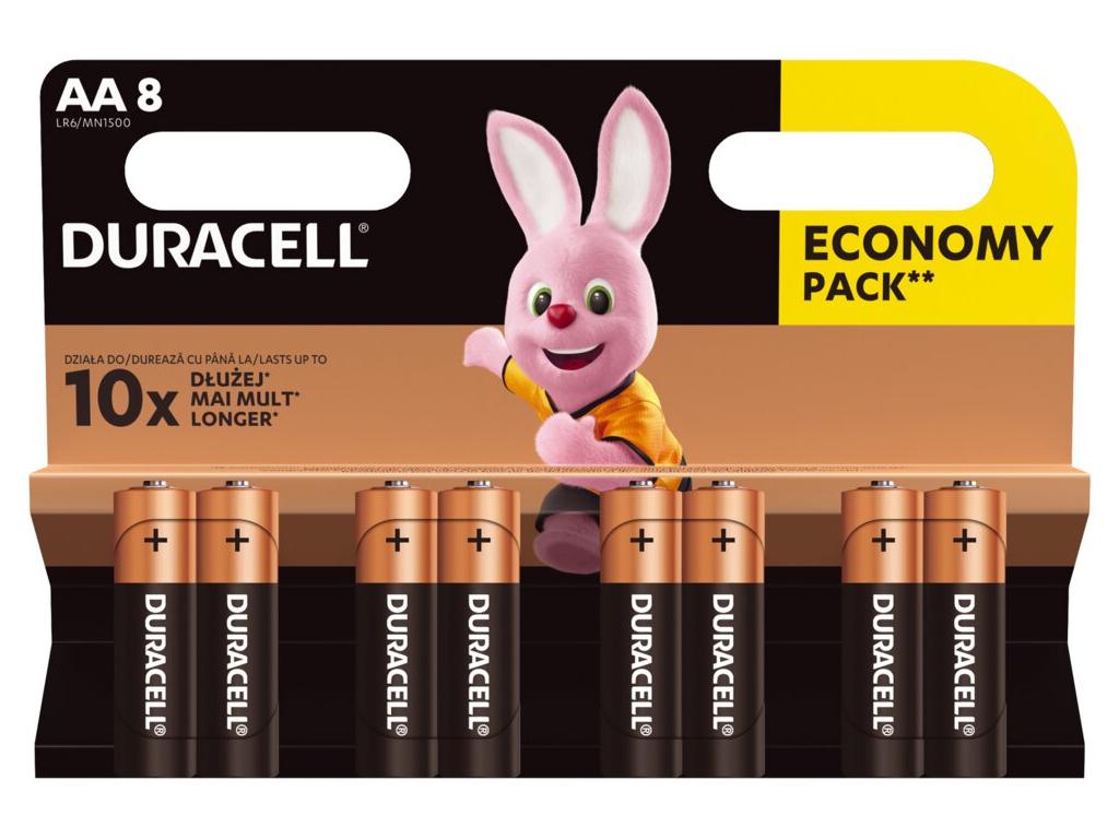 Bateria Duracell Duralock Basic AA 8 ks