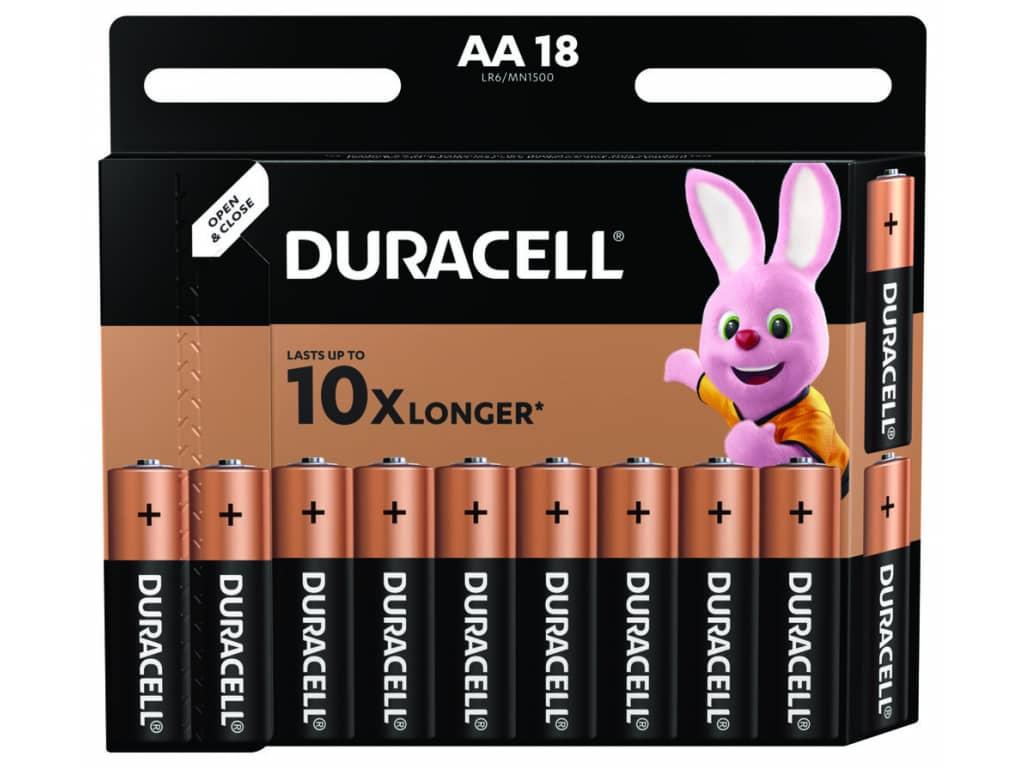 Batérie Duracell Duralock Basic AA LR6 18 ks