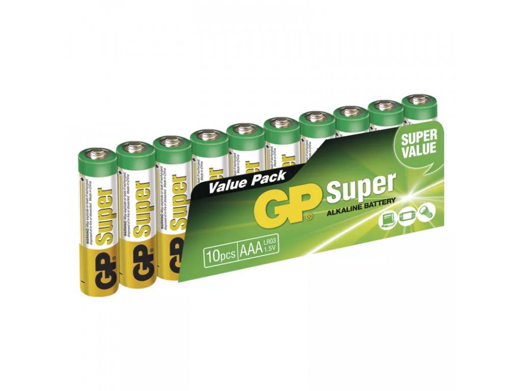 Baterie GP Super Alkaline AAA LR03 10 ks balenie