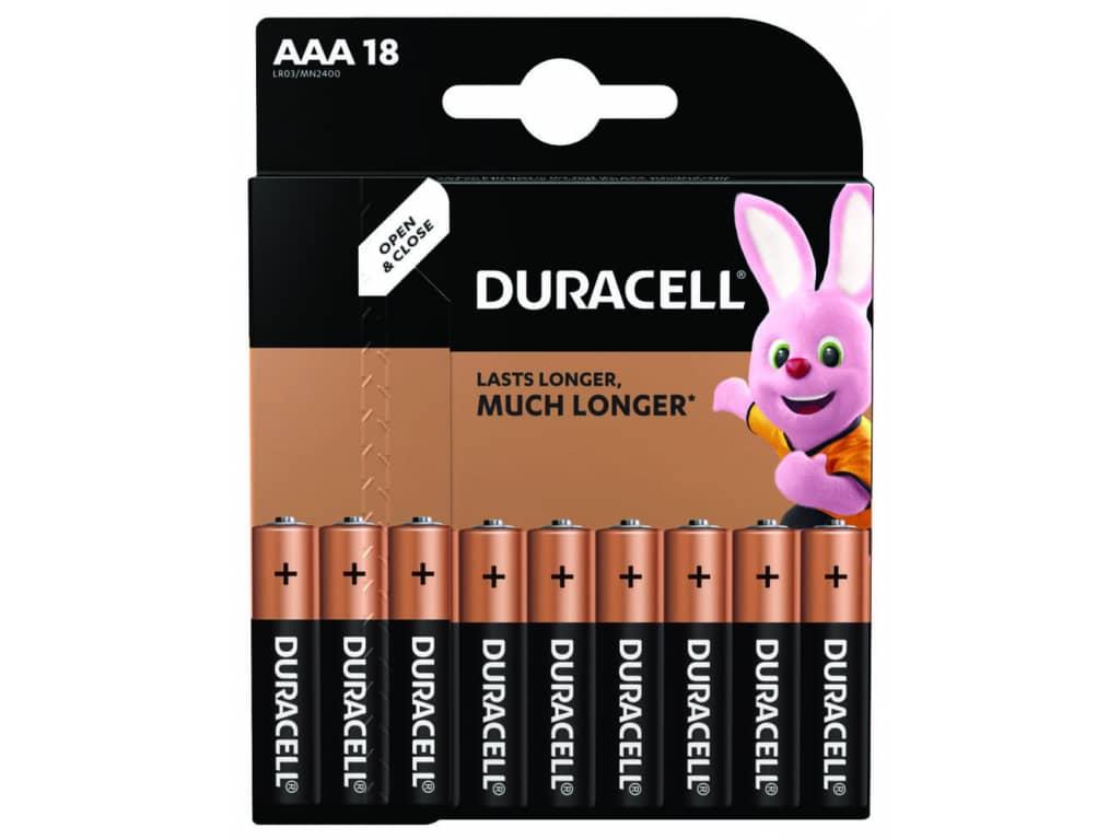 Batérie Duracell Duralock Basic AAA LR03 18 ks