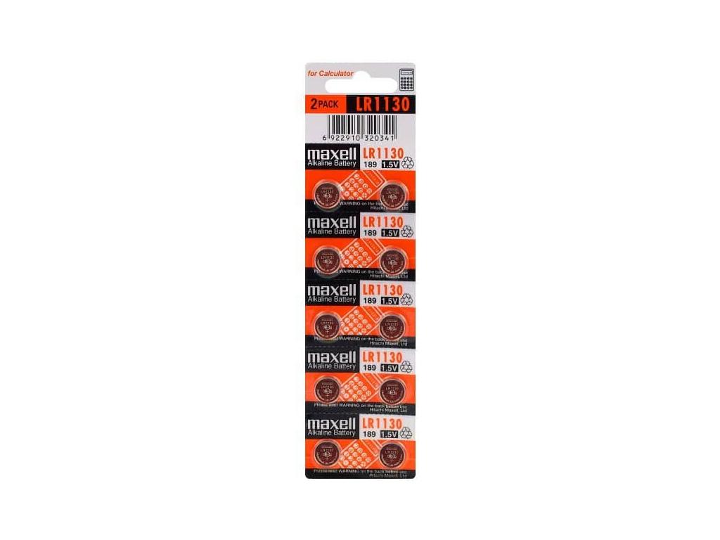 Bateria Maxell LR54 LR1130 189 10 ks